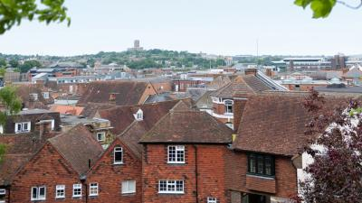 Rooftops of Guildford buildings